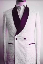 Mens Two Button Shawl Lapel Suit