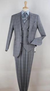 Mens Wool Suit - Pleated Pants