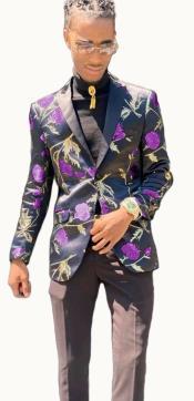 Paisley Blazer - Floral Blazer Matching