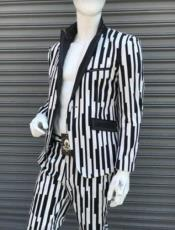 Black and White Gangster Stripe -