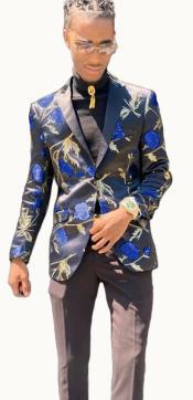 Paisley Suit - Floral Suit Matching