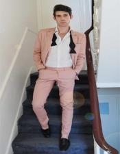 Mens Light Pink Suit - Blush