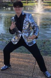 Mens Sequin Suit With Black Pants