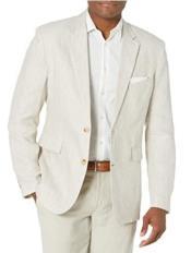Mens Linen Blazer - Natural Linen