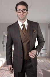 Vested Suit Window Pane Suit 2