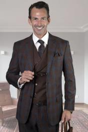 VestedSuitWindowPaneSuit2ButtonSuitsWoolSuit