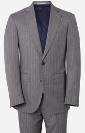 Grey and Pink Pinstripe Suit