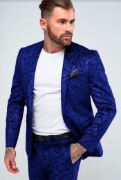 Mens Navy Blue Skinny Suit