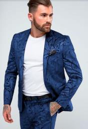Mens Royal Skinny Suit