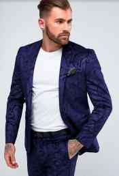 Mens Dark Blue Skinny Suit