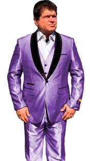 Mens One Button Shawl Lapel Suit