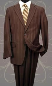 PZ3896 Classic 2PC 2 Button Style brown color shade