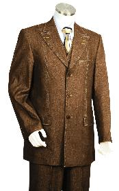 Piece Vested brown color