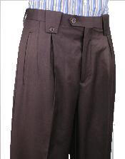 NNA27 Leonardo Valenti Wide Leg Pant Brown 1920s 40s
