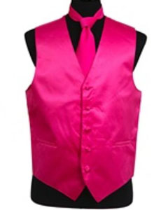 Tie Set Hot Pink