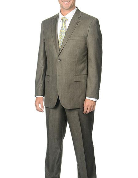 GD1339 Caravelli Men's Classic Fit Taupe 2 Button Notch Collar Single Breasted Suit